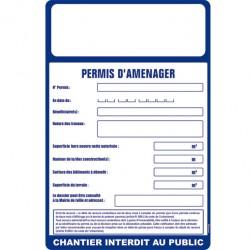 Panneau de permis d'aménager