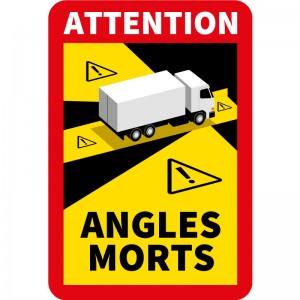 10 stickers Angles morts...