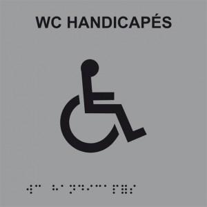 Plaque de porte Braille WC...